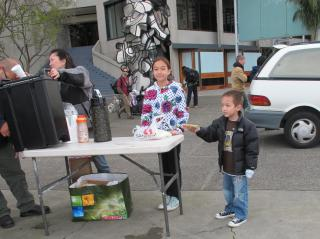 Young Samaritans, Food Giveaway, Justin Herman Plaza by Flickr user Gary Soup