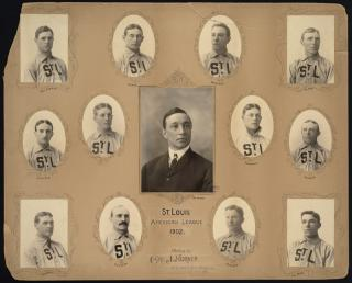 St. Louis Browns Baseball Team, 1902 by Flickr user Boston Public Library